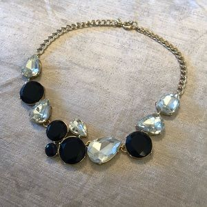 J Crew Blue and Crystal Statement Necklace